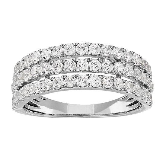 Grown With Love 1 CT. T.W. Lab Grown White Diamond 14K White Gold Anniversary Wedding Band