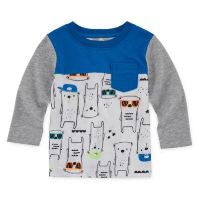 Okie Dokie Boys Long Sleeve Graphic T-Shirt-Baby