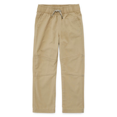 Okie Dokie Jersey Lined Twill Pant-Toddler Boys