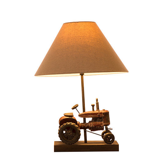Glitzhome Farmhouse Truck Resin Table Lamp