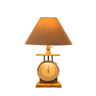 Electronic Scale Manufactured Wood Table Lamp
