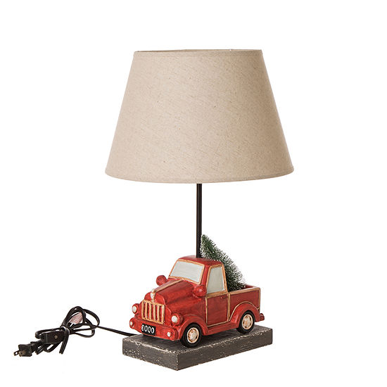 Glitzhome Truck Resin Table Lamp