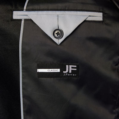 JF J.Ferrar Formal Stretch Charcoal Sparkle Classic Fit Sport Coat