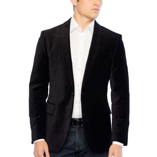 JF J.Ferrar Velvet Stretch Classic Fit Sport Coat