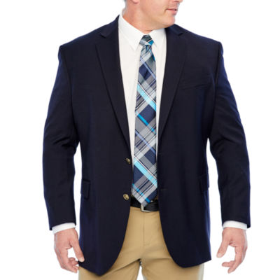 Stafford Mens Hopsack Classic Fit Blazer - Big and Tall