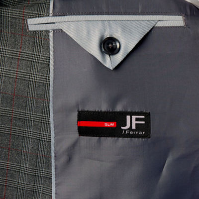 JF J.Ferrar Checked Classic Fit Stretch Suit Jacket