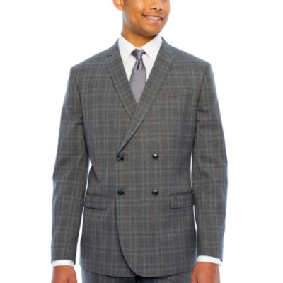 JF J.Ferrar Mens Plaid Classic Fit Suit Jacket