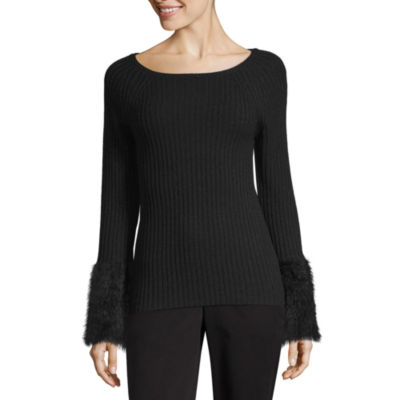 Worthington Long Sleeve Scoop Neck Pullover Sweater