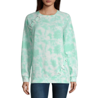 a.n.a Womens Round Neck Long Sleeve Sweatshirt