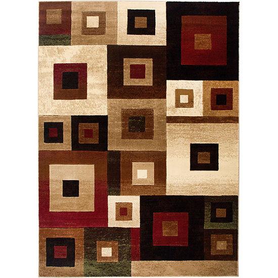 Home Dynamix Tribeca Harper Abstract Rectangular 3-Piece Rug Set