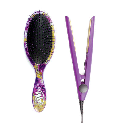 The Wet Brush Gem Stone w/ Flat Iron Value Set