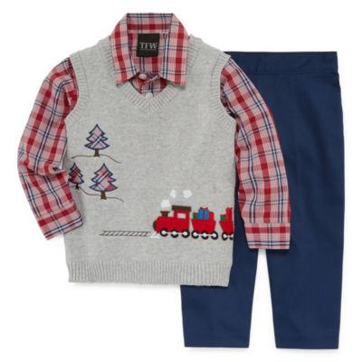 TFW 3-pc. Train Vest Pant Set - Baby Boys
