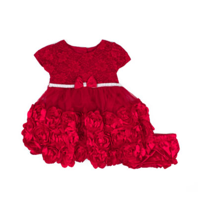 Nanette Baby Short Sleeve A-Line Dress - Baby Girls