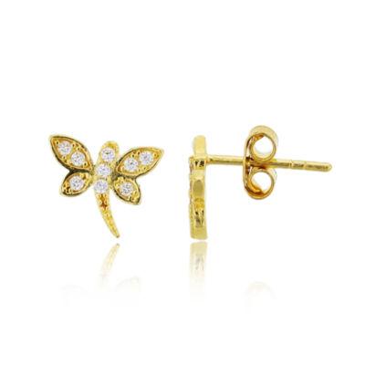 1/4 CT. T.W. White Cubic Zirconia 14K Gold 10.5mm Stud Earrings