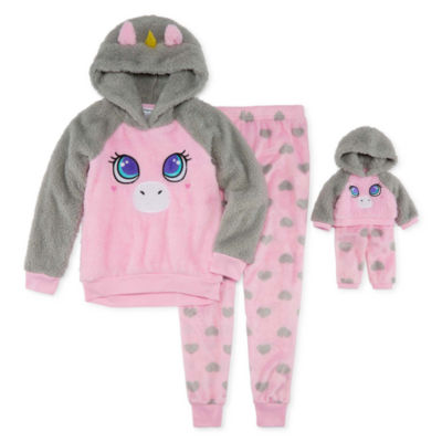 """For Me and My Dream Doll""  2-pc. Unicorn Pant Pajama Set -  Girls"