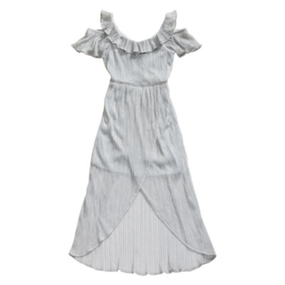 Emily West Short Sleeve Cold Shoulder Sleeve Maxi Dress - Big Kid Girls