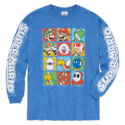 Nintendo Long Sleeve Crew Neck T-Shirt Boys
