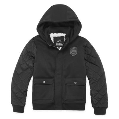 iXtreme Fleece Hooded Heavyweight Jacket-Big Kid Boys