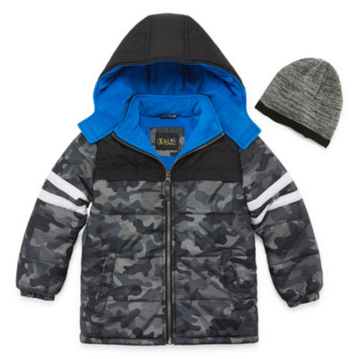 iXtreme - Boys Hooded Heavyweight Puffer Jacket-Preschool