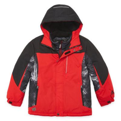 Zeroxposur Boys Water Resistant Heavyweight 3-In-1 System Jacket-Big Kid