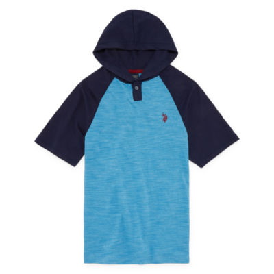U.S. Polo Assn. Short Sleeve Hooded Neck T-Shirt-Big Kid Boys