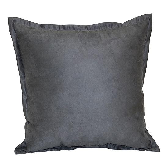Brentwood Originals Flange Suede Pillows