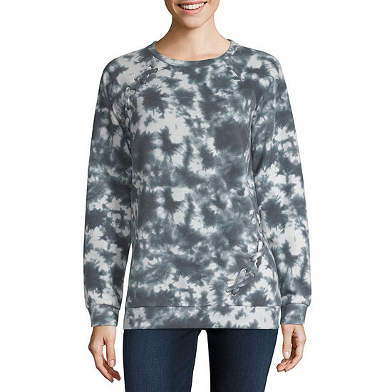 f9b40e2b a.n.a Womens Round Neck Long Sleeve Sweatshirt - JCPenney