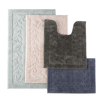Mohawk Home Leaf Border Quick Dry Bath Rug Jcpenney