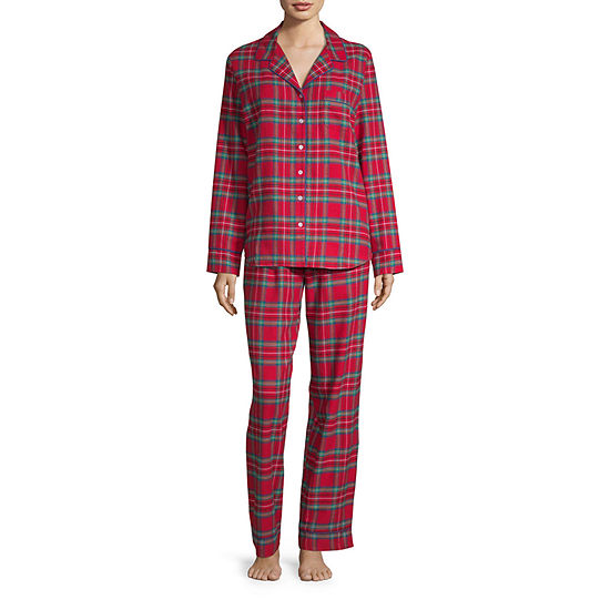 North Pole Trading Co.Long Sleeve Womens 2-pc. Pant Pajama Set -Talls