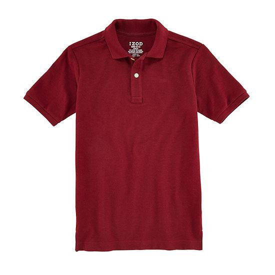 Izod Exclusive Boys Spread Collar Short Sleeve Polo Shirt - Big Kid