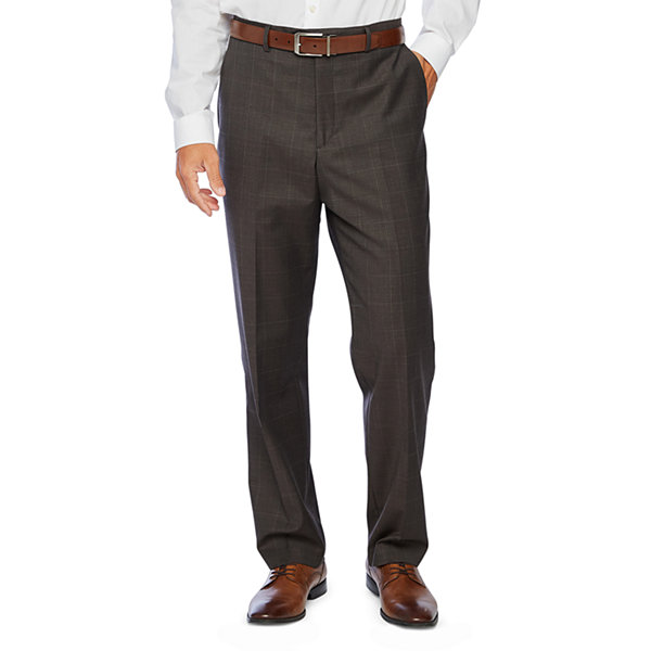 Stafford Super Windowpane Stretch Suit Pants