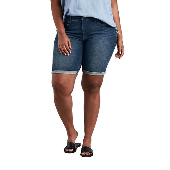 "Levi's Womens Mid Rise 10"" Bermuda Short-Plus"