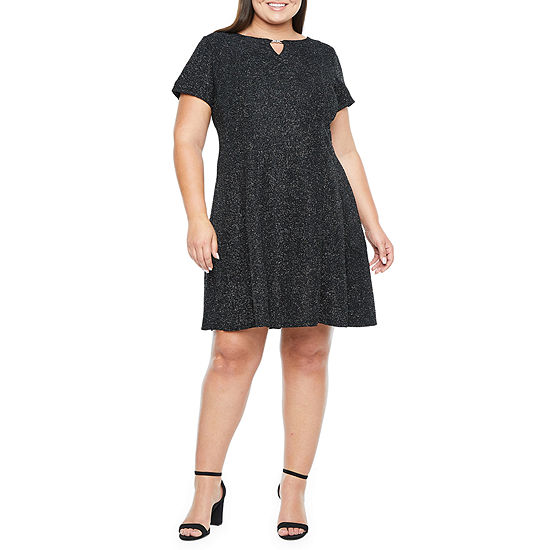 Alyx Short Sleeve Fit & Flare Dress-Plus