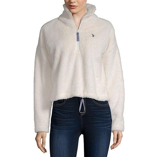 Us Polo Assn. Juniors Womens Mock Neck Long Sleeve Sweatshirt