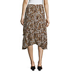Society And Stitch Womens High Low Full Skirt-Juniors