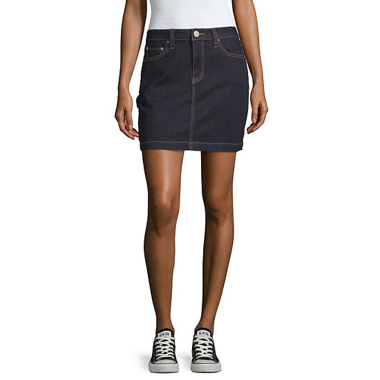 Dickies Womens Short Denim Skirt-Juniors