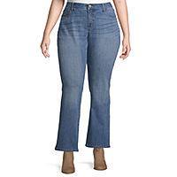 St. John's Bay Womens Regular Fit Bootcut Jean Deals