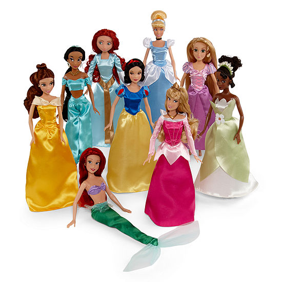 Disney Collection Princess Doll 9-Piece Playset