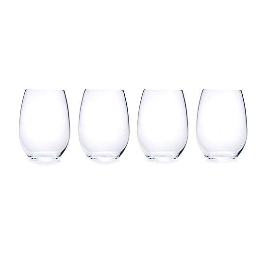 Mikasa Julie Stemless 4-pc. Wine Glass