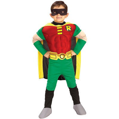 Teen Titans DC Comics Robin Muscle Chest Deluxe Toddler/Child Costume