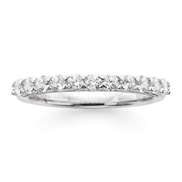 a0b789e00b561 Modern Bride® Signature 1/2 CT. T.W. Certified Diamond 14K White Gold  Wedding Band