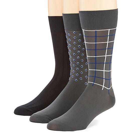 Stafford® 3-pk. Mens Microfiber Nylon Crew Socks