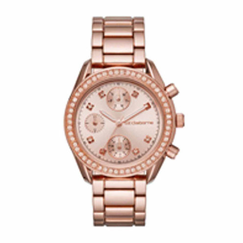 Liz Claiborne Womens Rose Goldtone Bracelet Watch-Lc1321