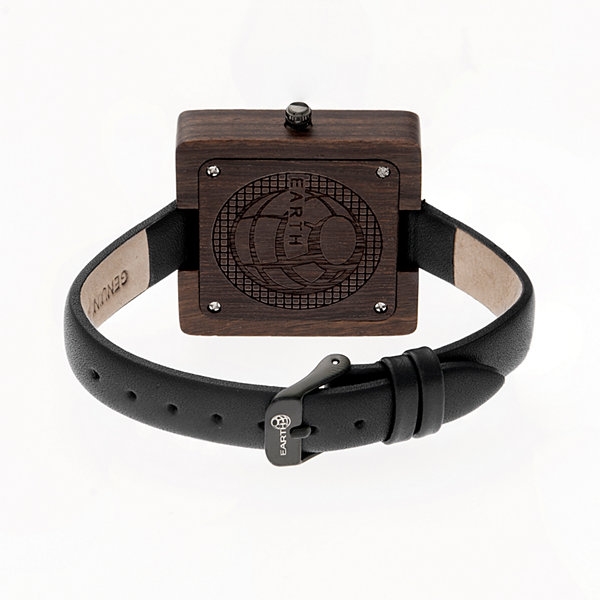 Earth Wood Unisex Brown Strap Watch