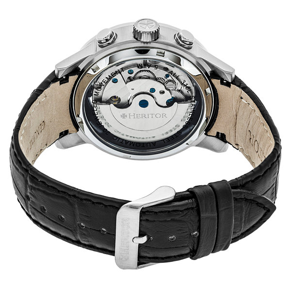 Heritor Mens Black Strap Watch-Herhr4102
