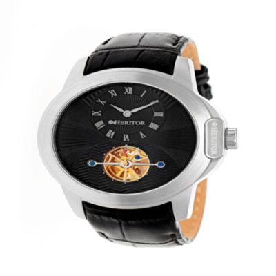 Heritor Mens Black Strap Watch-Herhr4202