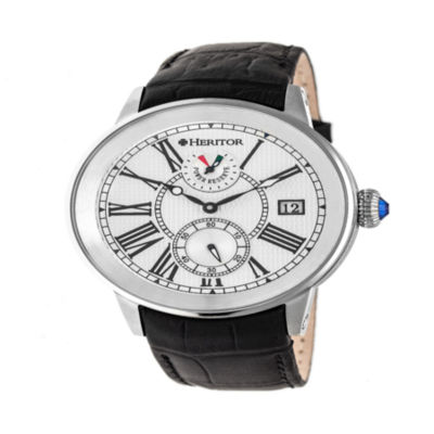 Heritor Mens Black Strap Watch-Herhr4301