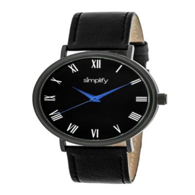 Simplify Unisex Black Strap Watch-Sim2904