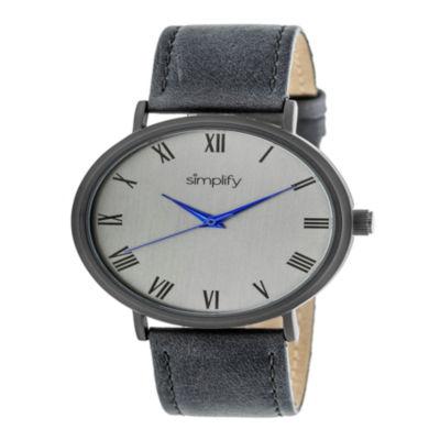 Simplify Unisex Gray Strap Watch-Sim2906