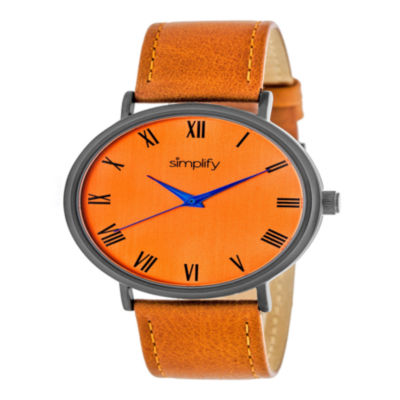 Simplify Unisex Orange Strap Watch-Sim2907